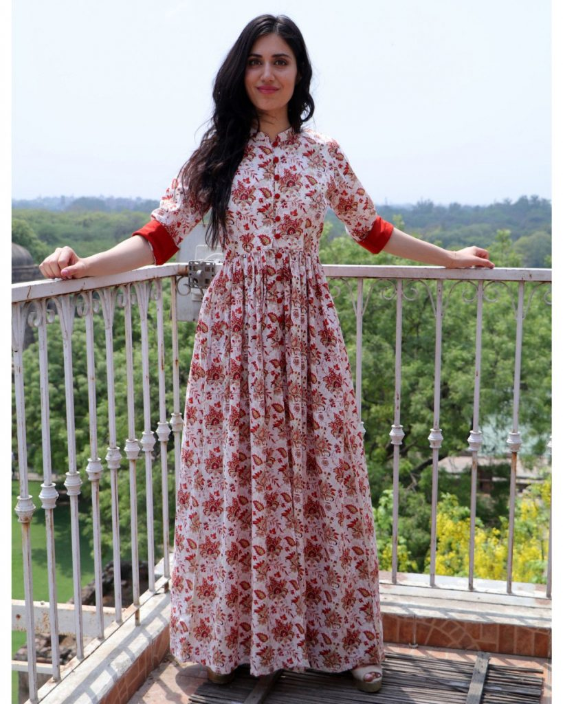 stylist long Kurtis with front cut at lowest price