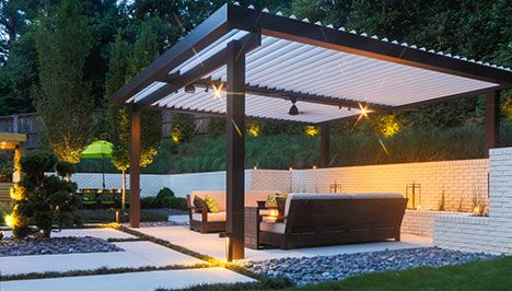 louvered roofs